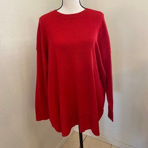 NWT H&M Conscious Gorgeous Red Sweater Size XL